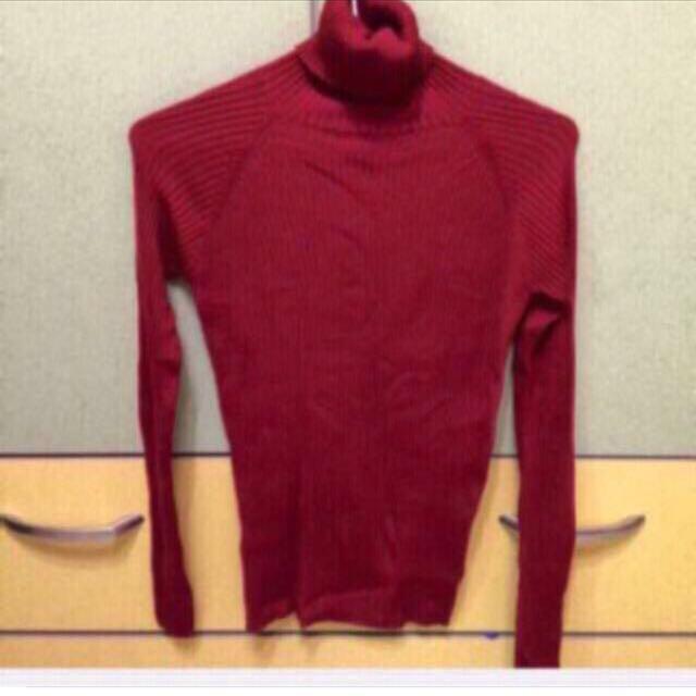 不議價唷 Zara酒紅色高領毛衣s號 95新