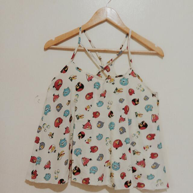Angry Birds Strap Halter Blouse