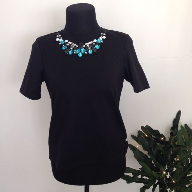 Bayo Jewel Collar Blouse