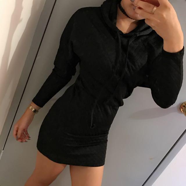 Black Hoody Dress