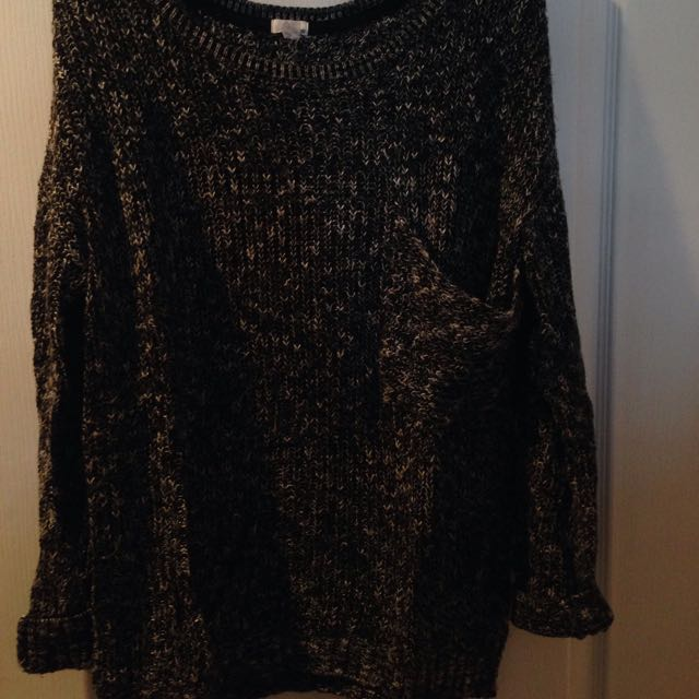 Black/grey Long Sweater