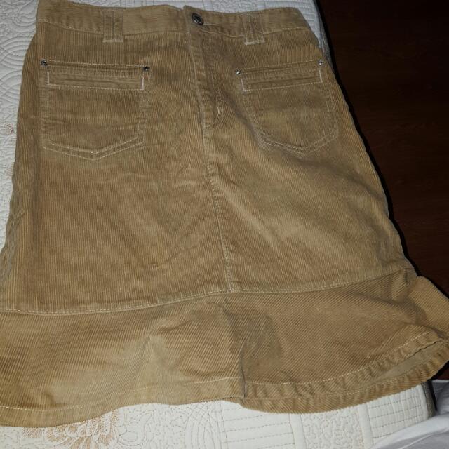 Bossini Brown Corduroy Skirt