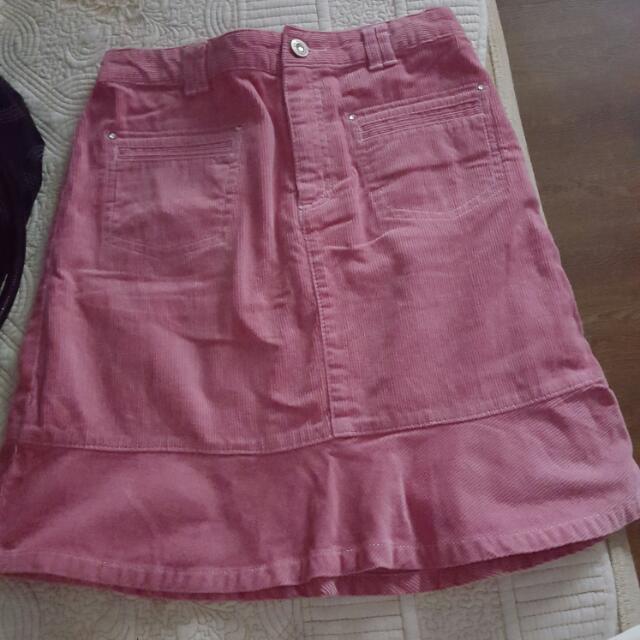 Bossini Pink Corduroy Skirt