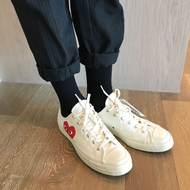 cdg converse low men