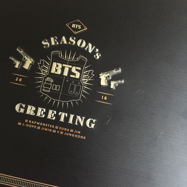 bts seasons greetings 2016 box ONLY