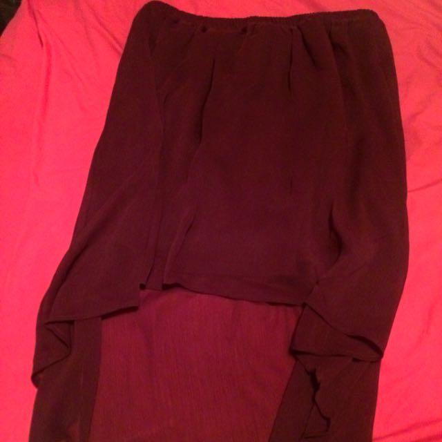 Chiffon Burgundy/purple Skirt