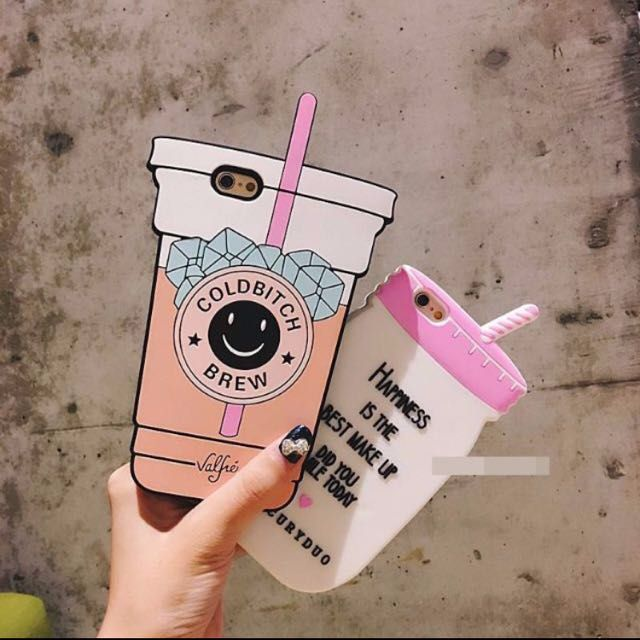 COLD BITCH BREW TUMBLR SOFT IPHONE 6/6S CASE, Mobile Phones