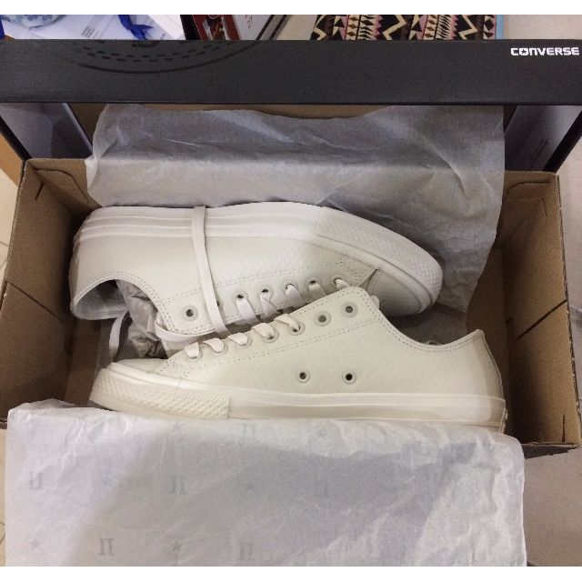 4256d0924fda CONVERSE X JOHN VARVATOS CHUCK II COATED LEATHER LOW TOP