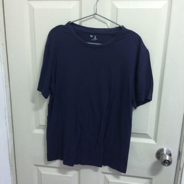 Gap丈青色短袖上衣