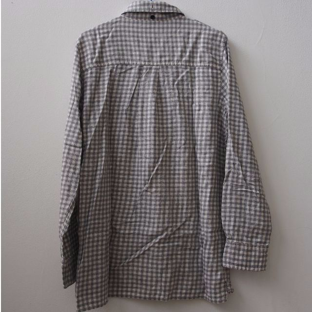 GAP GREY CHECKERED LONG SLEEVE SHIRT UNISEX