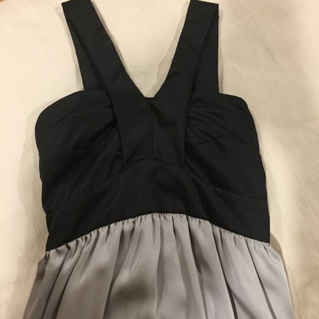 Grey Black Dress