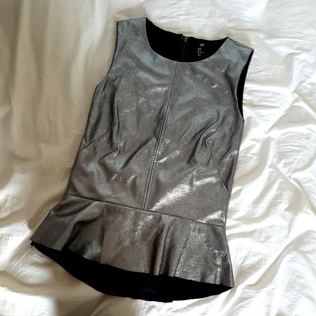 H&M Metalic Top