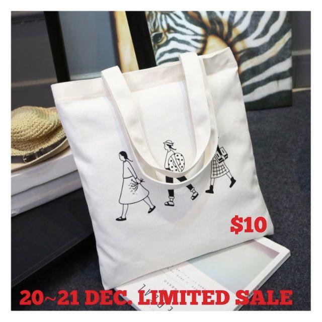 IN STOCK *Korean style* three people handbag/canvas bag 現貨韓版三人行托特帆布包
