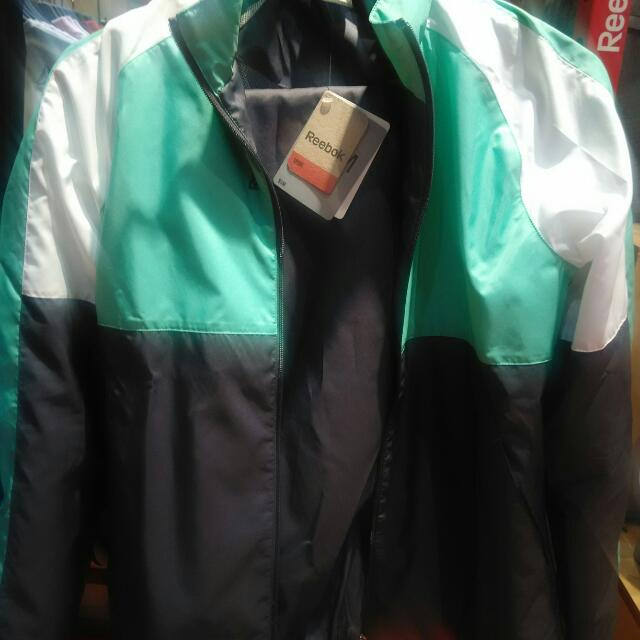 jaket + celana waterproof Reebook ori
