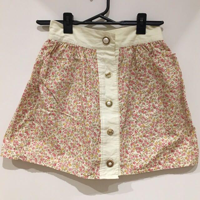 Johann Earl Floral Multi Button Picnic Skirt