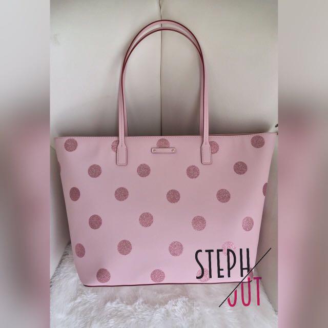 Kate spade haven large polka pink