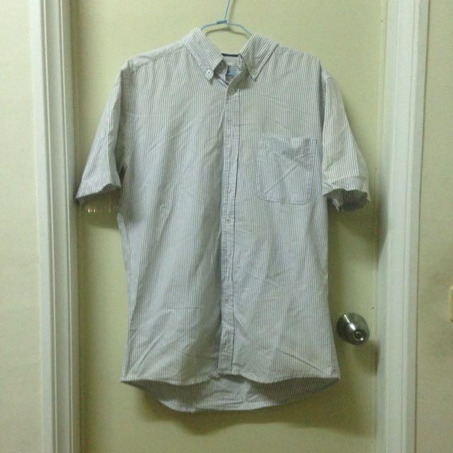 Lative 灰條紋襯衫