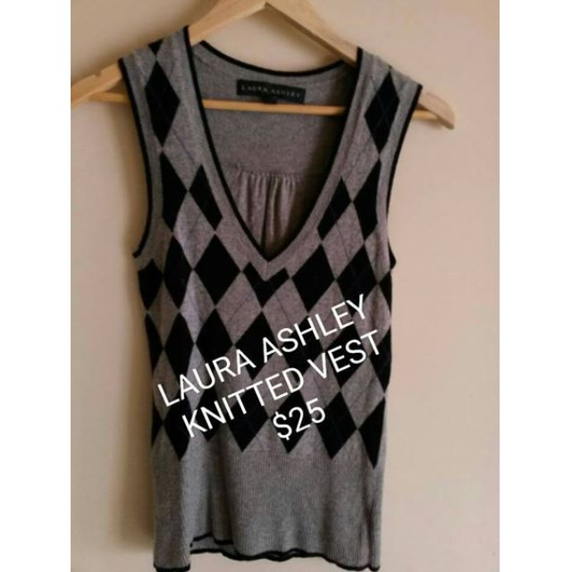 Laura Ashley Atzec Knitted Vest.