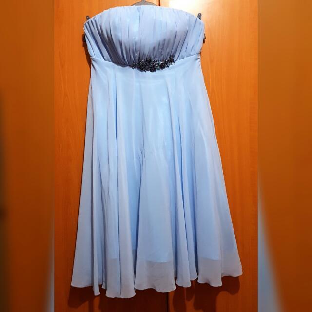Light Blue Chiffon Fromal Dress
