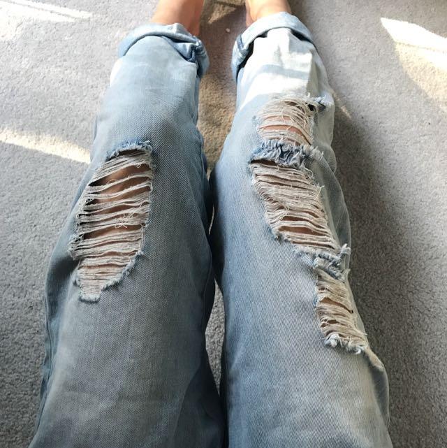 Mossimo Ripped Boyfriend Jeans