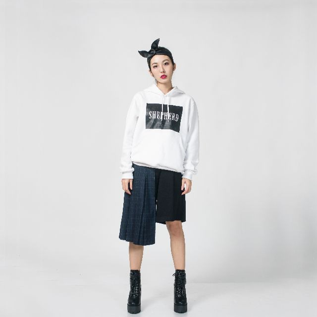【MIT】Shepherd logo hoodies white