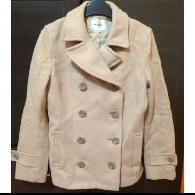 降👇Mk 卡其色雙排扣外套 大衣 西裝外套  #轉轉來交換