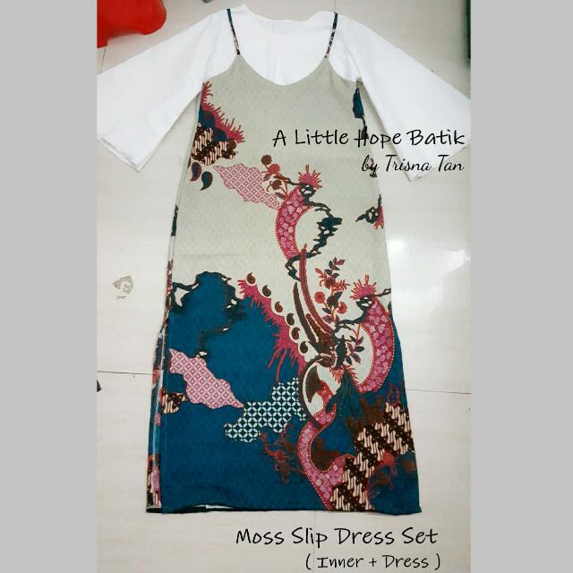 Moss Slip Dress Set Batik (Inner + Dress)