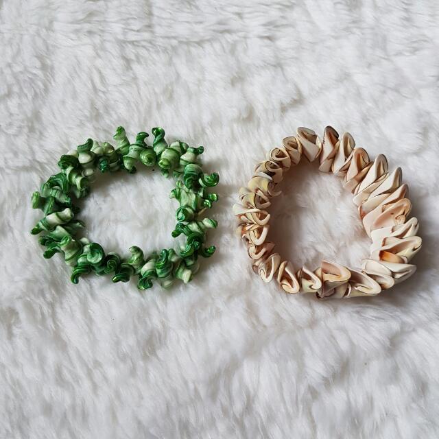 MURAH BANGET!!! Mix Bracelets: 2 sets Unique Handmade Shell Bracelet (Paket Gelang: 2 set Gelang Kerang) High Quality Summer Style