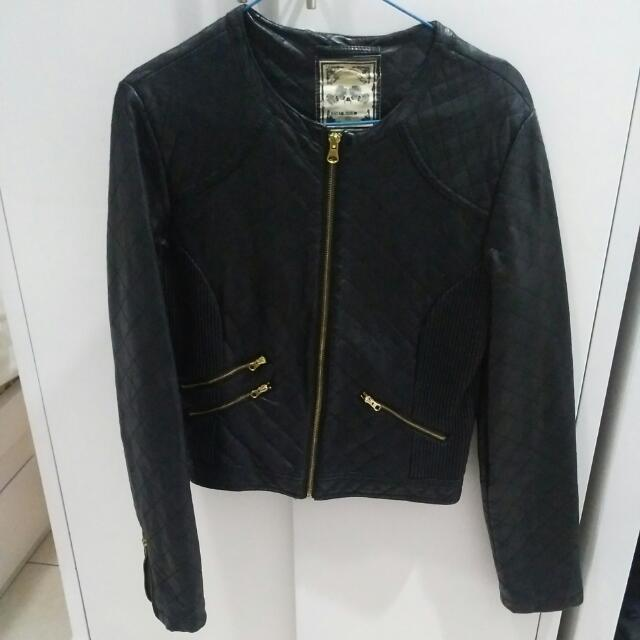 New Look Black Leather Jacket