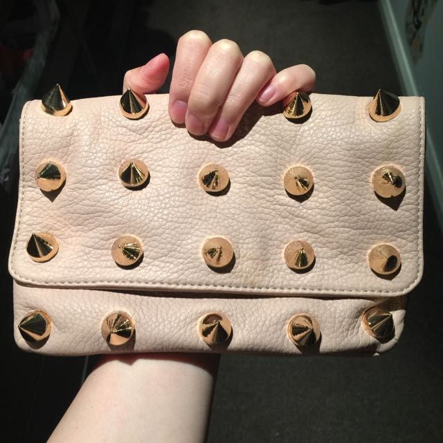 New Nude Pink Colour With Gold Studs