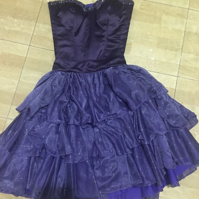 PURPLE TULLE COCKTAIL DRESS BY MS. CHEENA NG LIO