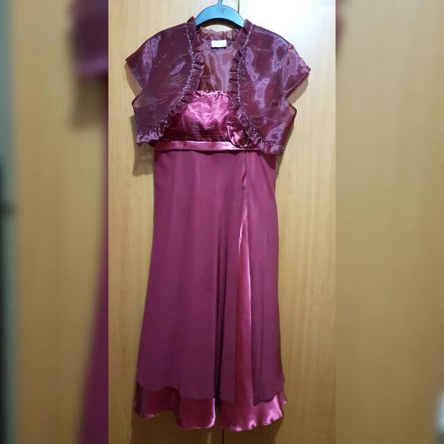 Red Chiffon Formal Dress
