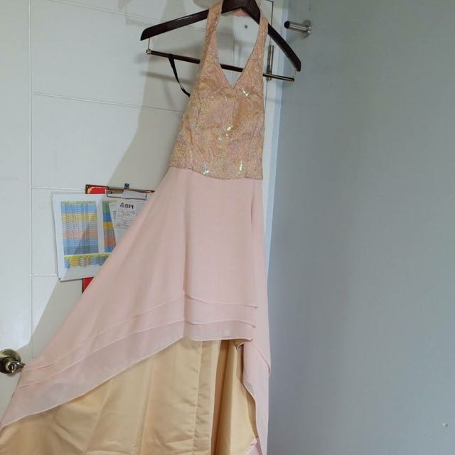 RELIGIOSO SALMON PINK MULLET GOWN