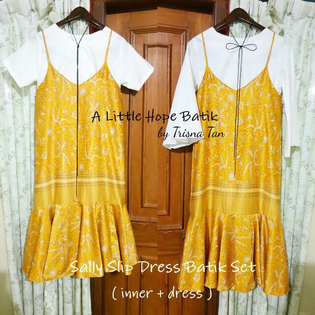 Sally Slip Dress Batik Set (Inner + Slip Dress)