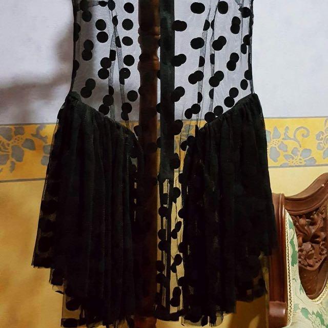 See Through Poka Dots Dress- size 6/8