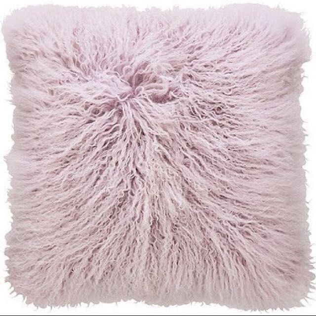 SHERIDAN Lilac Fur Cushion