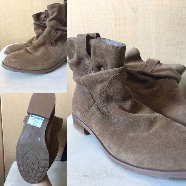 Size 8 1/2, Suede Boots (REDUCED)