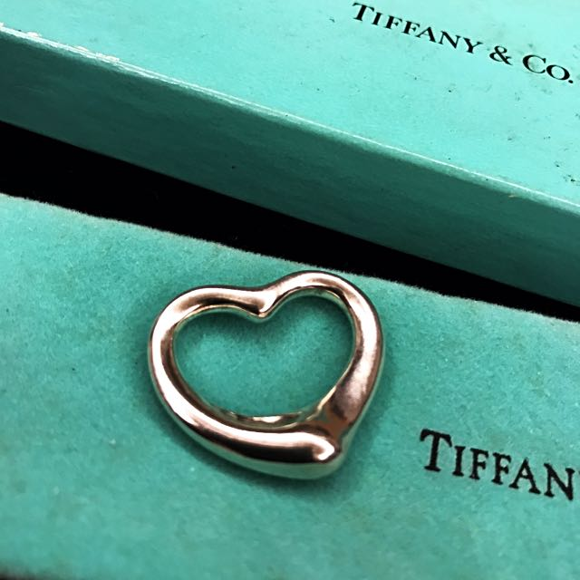 a144f5db9 Stunning Tiffany & Co. Elsa Peretti Open Mesh Heart Pendant In Solid ...