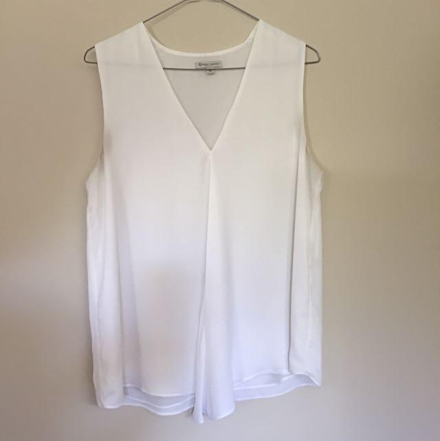 Target White Workwear Frill Top