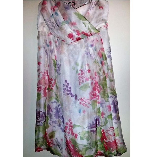 TOKITO FLORAL PRINT STRAPLESS/ BUBBLE DRESS