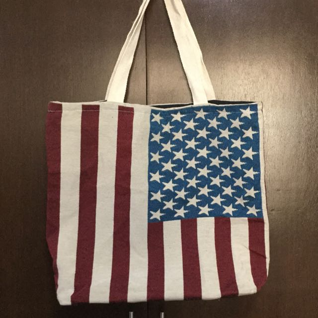 Unbranded Canvass Flag Design Tote