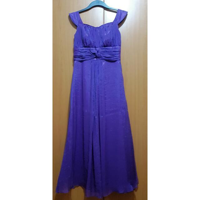 Violet Chiffon Long Formal Dress