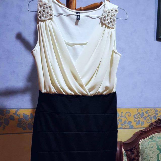 White/Black Dress- Size 6/8