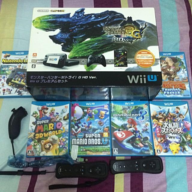 WiiU 32G魔物獵人同捆機