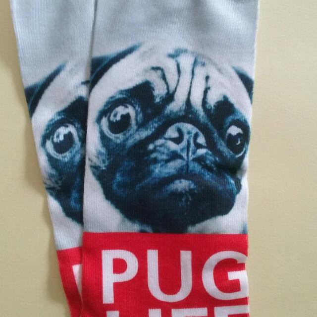 Womens Ankle Socks **PUG LIFE** Size 3-7 Adult