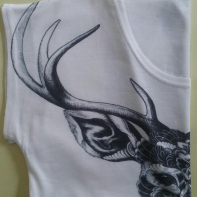 Womens Tshirt - Deer Antler Print