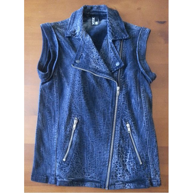 Ziggy Black Denim Vest Size:Small NWOT