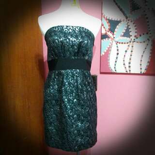 平口豹紋洋裝