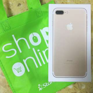 Gold iPhone 7+ 32gb