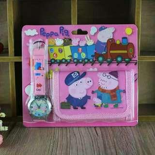 Peppa Pig - Watch & Wallet Set For Children